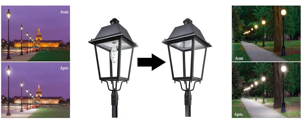 éclairage public retrofit